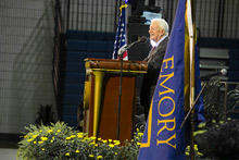 President Jimmy Carter fields questions from students at 38th annual Emory town hall